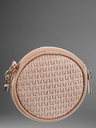 GUIDO MARIA KRETSCHMER Mini Geldbörse, aus Leder mit Karabiner, braun, nude
