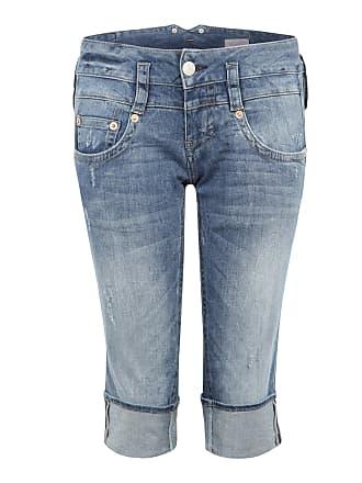 3/4-Jeans im Used-Look Pitch blau Herrlicher