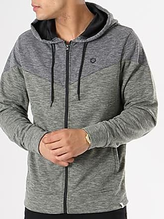 Sweat Zippé Capuche Chevron Gris Anthracite Chiné Gris ChinéJack & Jones m91lmm