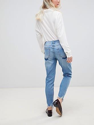 Albany Destroyed Hem Straight Jeans - Blue Jacqueline de Yong 2INhI