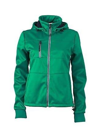 Damen Jacke Sofshell Ladies Maritime Jacket grün (Irish Green/Navy/White) Large James & Nicholson