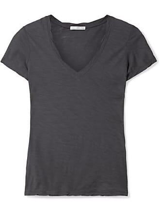 T-shirt Aus Supima-baumwoll-jersey Mit Flammgarneffekt - Navy James Perse