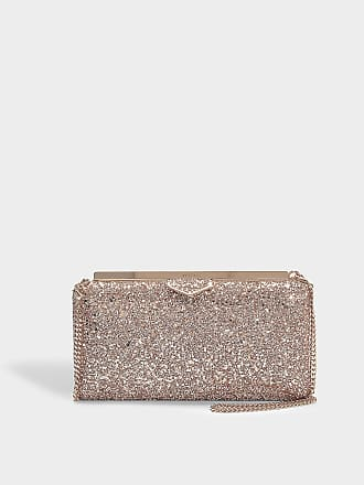 Clutch CLOUD embroidered fabric woven gold crystal ornaments crystal lock Jimmy Choo London 9vQQkphp
