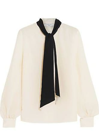 Lanvin Woman Satin-trimmed Crepe Blouse Black Size 42 Lanvin Reliable Cheap Online Clearance Cheap Real Best Price a8xFxJiWmd