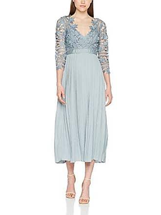 Damen Partykleid Cornflower Crochet Lace Dress with Pleats Little Mistress
