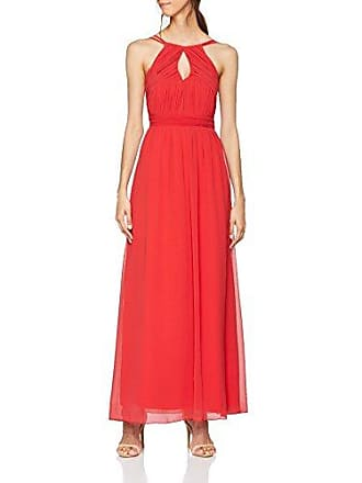 Damen Partykleid Red Keyhole Maxi Dress with Double Cami Straps Little Mistress