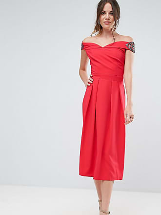 057EO1E029, Robe Femme, Rouge (Berry Red), 34Esprit