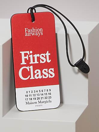 Maison Margiela Accessoire de Sac First Class Tag en Cuir de Veau Imprimé RGu46F