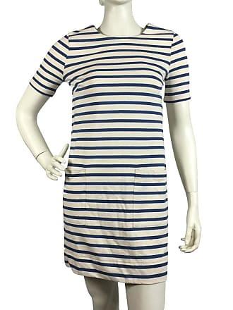 gebraucht - Gestreiftes Kleid - XS - Damen - Creme - Baumwolle Marc Jacobs