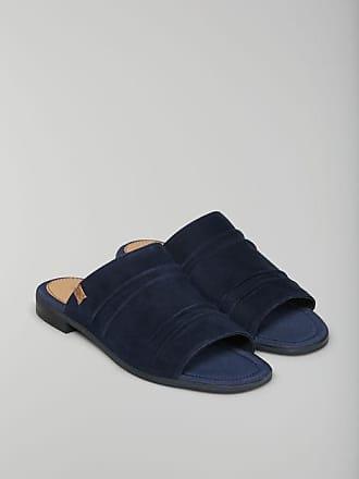 Marc O'Polo Damen Flat Sandal 80314541108305 Pantoletten, Blau (Navy/Black), 41 EU