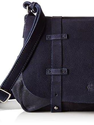 Bess Spk/cuir Mure, Womens Cross-Body Bag, Bleu (Mure), 9x20x23 cm (W x H L) Mila Louise