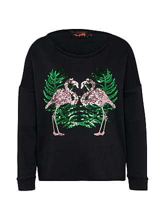 Pullover Flamingos schwarz Miss Goodlife