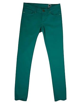 gebraucht - Skinny Jeans - W 28 - Damen - Türkis - Baumwolle Missoni