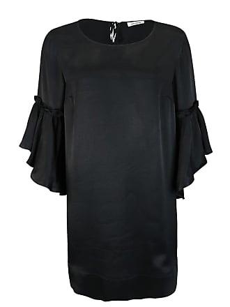 3/4 Arm Kleid PENSEE Rundhals Volant schwarz Mos Mosh