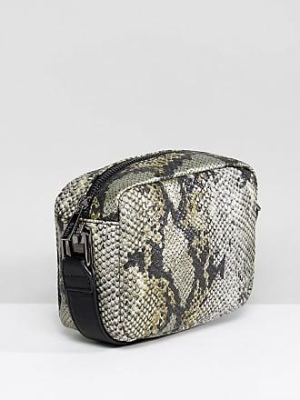 Double Chain Strap Across Body Bag - Grey snake Nal e8cTbH