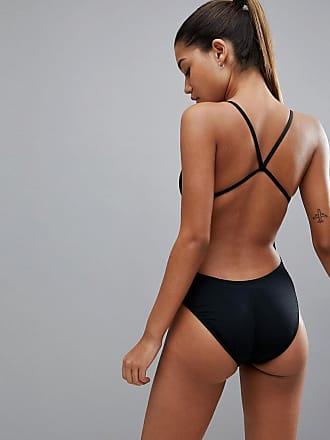 Nike - Maillot une pièce à découpe - Rouge Sexy Sport fb1Eu0