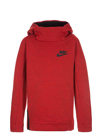 Tech Fleece Trainingskapuzenpullover Kinder, rot, rot / schwarz Nike