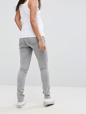 Maternity Distressed Skinny Over The Bump Jeans With Adjustable Waist - C303 grey blue denim Noppies iR9TUMgY