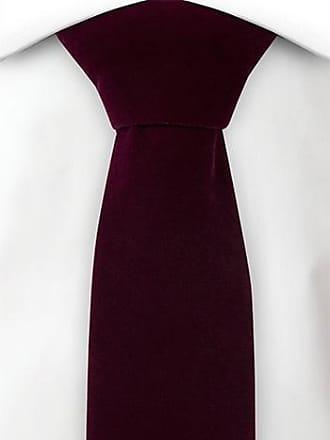 Slim necktie - Beige, blue, brown & red stripes on twill Notch