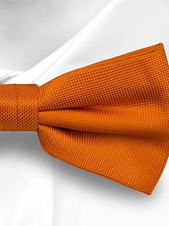 Linen Pre tied bow tie - Solid, apricot orange plain linen weave - Notch SUKSHINDER Notch