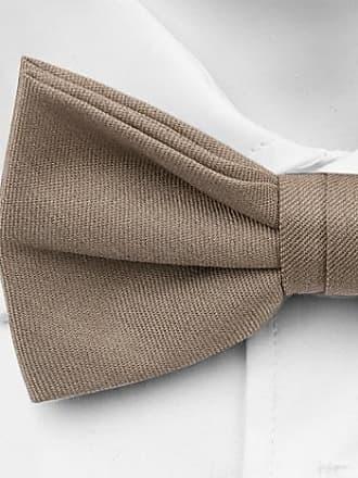 Wool Self tie bow tie - Thin weave, solid in sandy beige light brown tone - Notch SASHA Notch