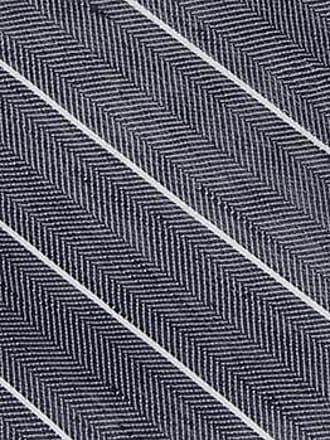 Linen Handkerchief - Thin white stripes on blue herringbone pattern - Notch SUIJIN Notch glGkFDfN
