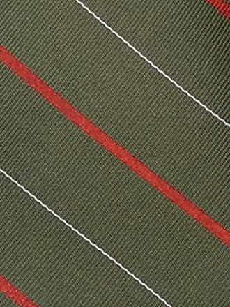 Handkerchief from Tieroom, Notch CARTER, green base, red white stripes Notch