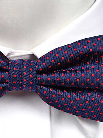 Pre tied bow tie - Dark blue base, christmas trees, red baubles Notch