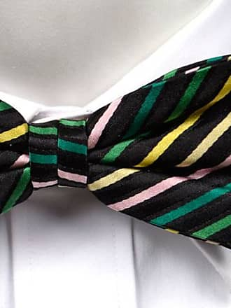 Tied bow tie from Tieroom, Notch GRIM, stripes green, pink, yellow Notch