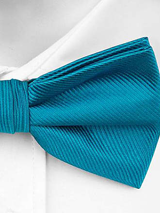 Bow tie untied from Tieroom, Notch LABAN, discreet stripestructure in solid turquoise Notch