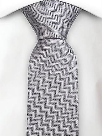 Silk necktie - Glistening silver mine grey twill - Notch PEDRO Notch EUTK7Z