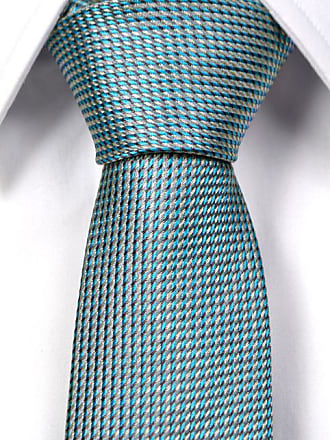Slim necktie from Tieroom, Notch GERT small patterned turquoise white Notch