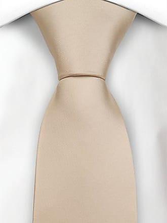 Cravate - Fines Rayures Blanches Bordées De Gris Sur Entaille De Champagne SA9n9s23xl
