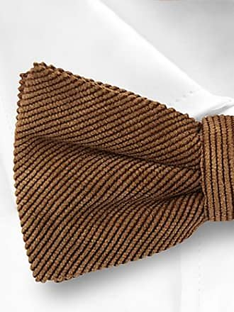 Pre tied bow tie - Solid brown corduroy - Notch OMBONAD Brown Notch kiSpm