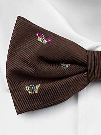 Silk Handkerchief - Brown base and small multicoloured butterflies - Notch TITLI Notch rVD3p5mHCf