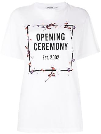 Florales T-Shirt mit Logo-Print - Weiß Opening Ceremony