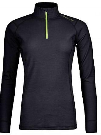 145 Ultra Zip Neck Merinounterwäsche für Damen | schwarz Ortovox