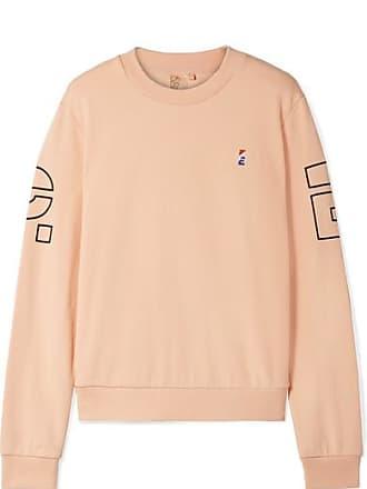 Moneyball Sweatshirt Aus Bedrucktem Baumwollfrottee Mit Stickerei - Pfirsich P.E Nation