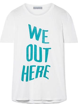 We Out Here Bedrucktes T-shirt Aus Baumwoll-jersey - Weiß Paradised