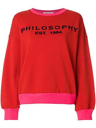 Sweatshirt mit Kontrastkragen - Rot Philosophy di Lorenzo Serafini