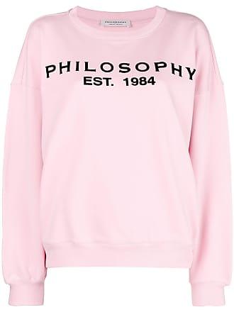 Sweatshirt mit Logo-Pritn - Rosa & Lila Philosophy di Lorenzo Serafini