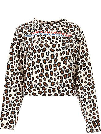 Sweatshirt für Damen, Kapuzenpulli, Hoodie, Sweats Günstig im Sale, Leopardenfarbig, Baumwolle, 2017, 40 Pinko