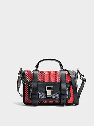 Ps1+ Tiny Bag in Red and Blue Mixed Woven Proenza Schouler FdAMS