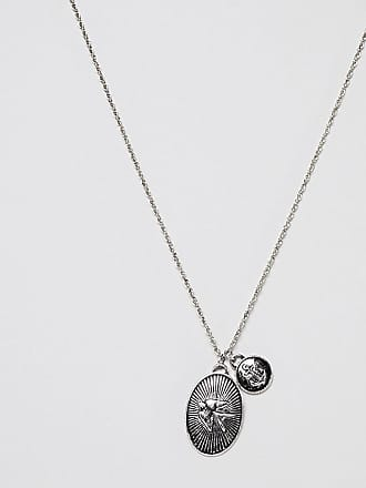 Silver Tone Cutout Leather Necklace Lucl QHlb1Fg