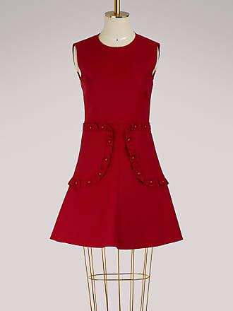 Mini-robe En Crêpe à Volants - CramoisiRed Valentino sJ68Q9Kh