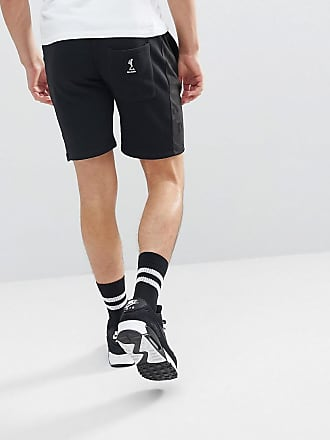 Jersey Shorts In Black With Faux Suede Panel - Black Religion 0R1WwLwo