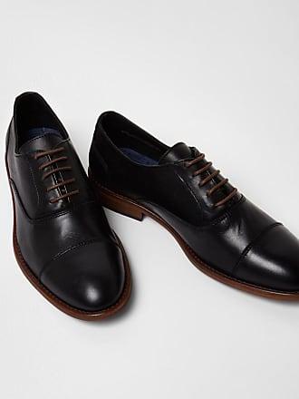 Cuir Noir Chaussures Oxford Avec Nez Classique tpDQ2a1df