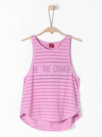 2-in-1-Top mit Bandeau für Mädchen, rosa, REG, pink stripes s.Oliver Junior