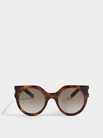 Saint Laurent Sonnenbrille mit flaschefarbenem Linsen aus Nude Acetat WBhqQ