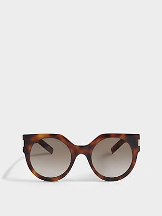 Saint Laurent Sonnenbrille mit flaschefarbenem Linsen aus Nude Acetat lbiq8u